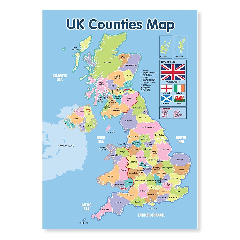 Uk Mp Map Yhdistynyt Kuningaskunta Bussi Kartta Pohjois