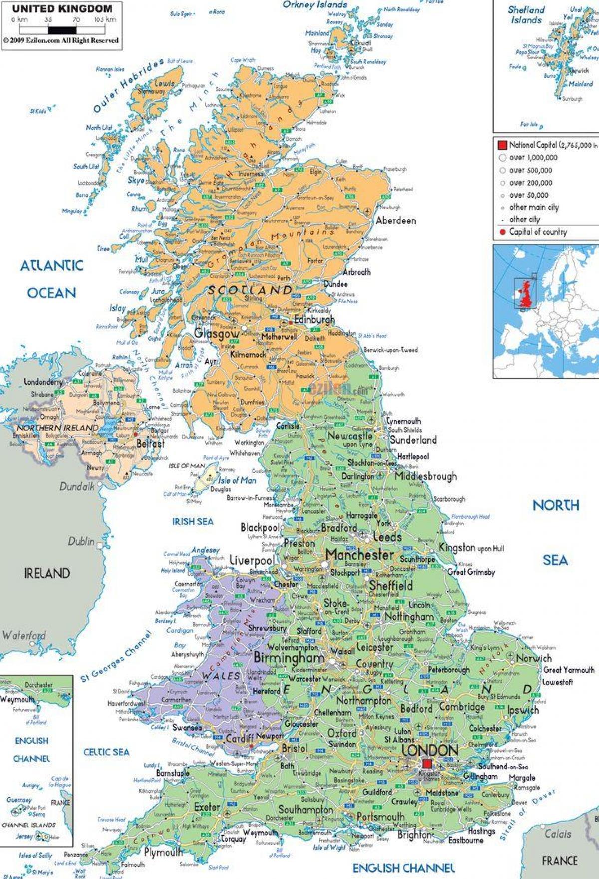 Britannian Kartta Britannian Kartta Pohjois Eurooppa Eurooppa