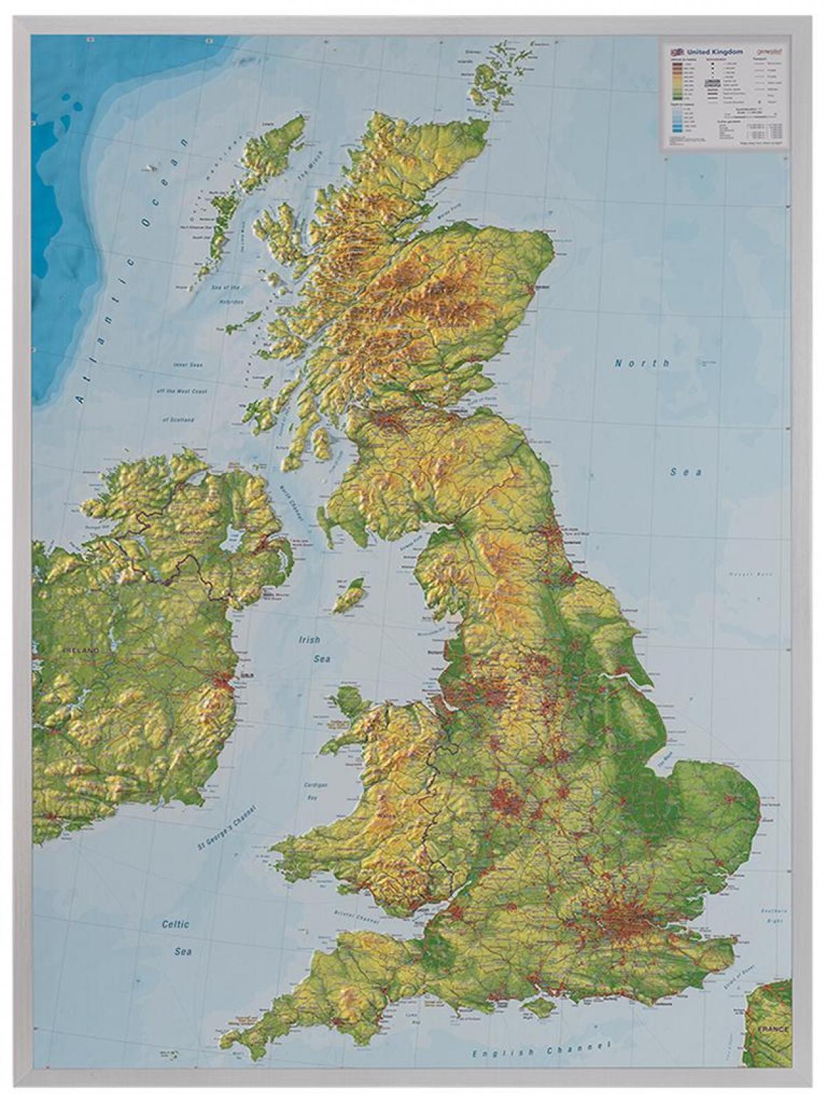 Maasto Kartta Uk Kartta Uk Maastossa Pohjois Eurooppa Eurooppa