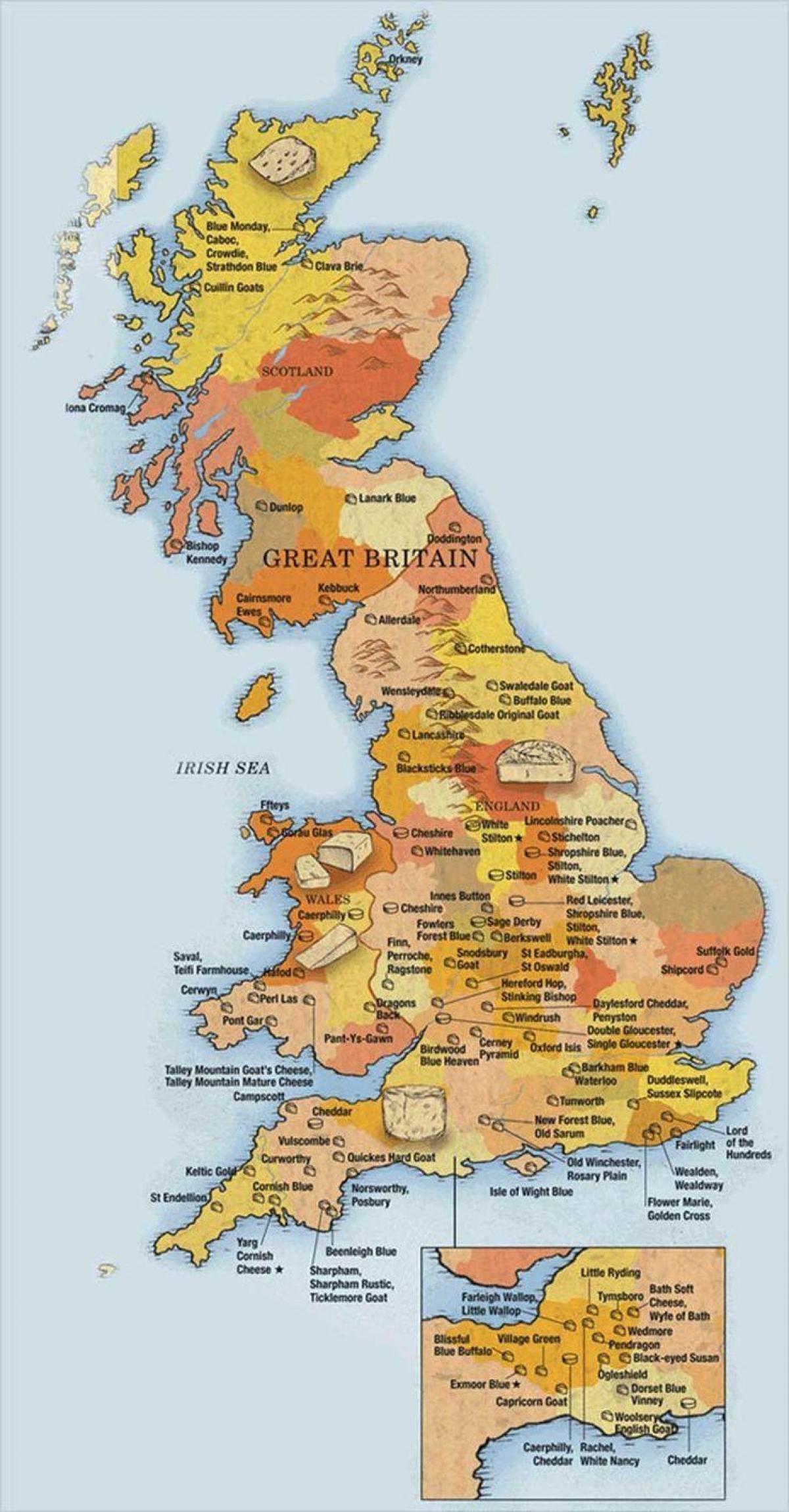 Uk Kartta Kuva Britannia Kartta Kuva Pohjois Eurooppa Eurooppa