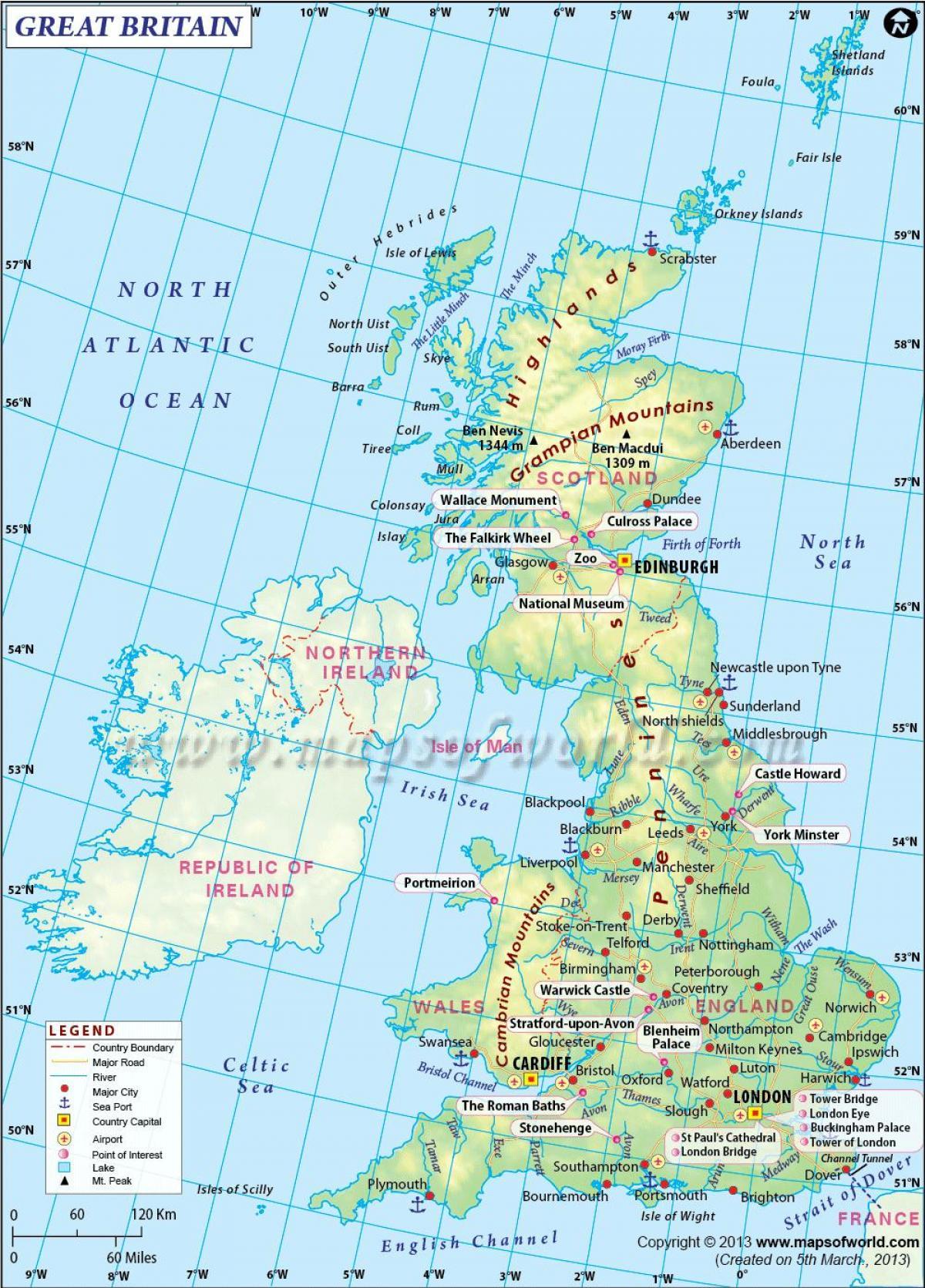Uk Kartta Kuvia Ison Britannian Kartta Kuvia Pohjois Eurooppa
