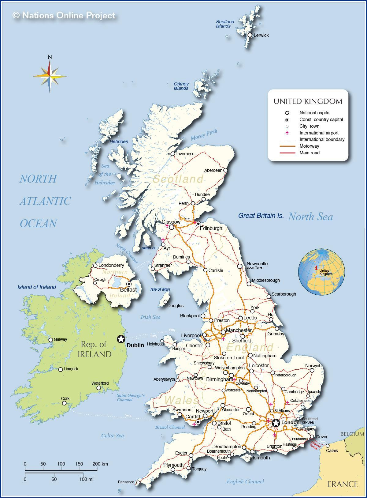 Uk Vene Kartta Britannia Vene Kartta Pohjois Eurooppa Eurooppa